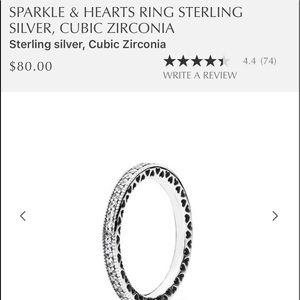 NIB Pandora hearts ring